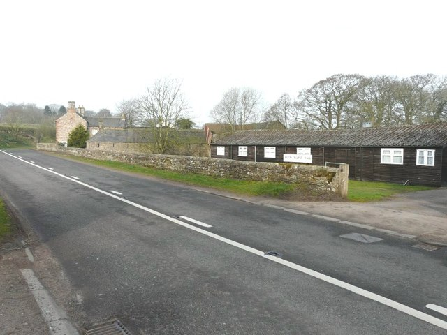 The A689 heading west through Milton