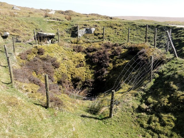 Old Mine Shaft At Eylesbarrow Tin Mine