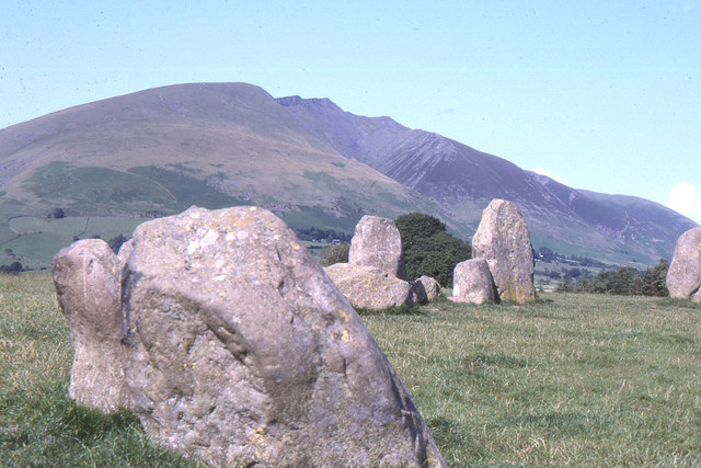 Saddleback / Blencathra from Castlerigg Stone Circle