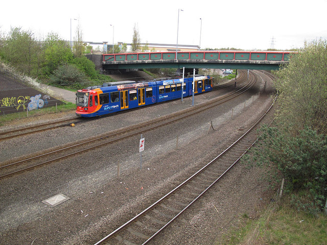 Supertram at Broughton Lane