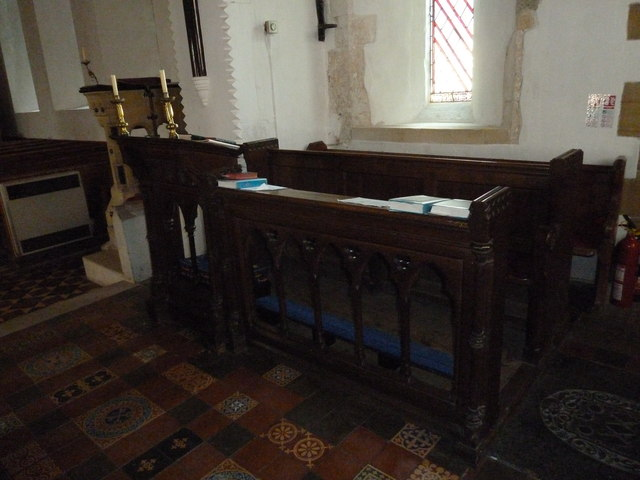 St Peter, Rodmell: choir stalls