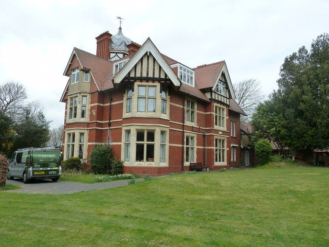 The rear of Loxdale house