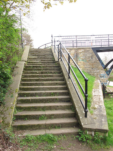 Brown Bayley Bridge - steps