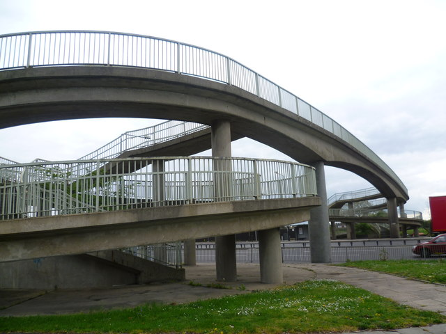 Footbridge over the A316