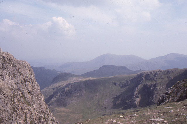 Summit of Crinkle Crags: view towards Coniston Fells