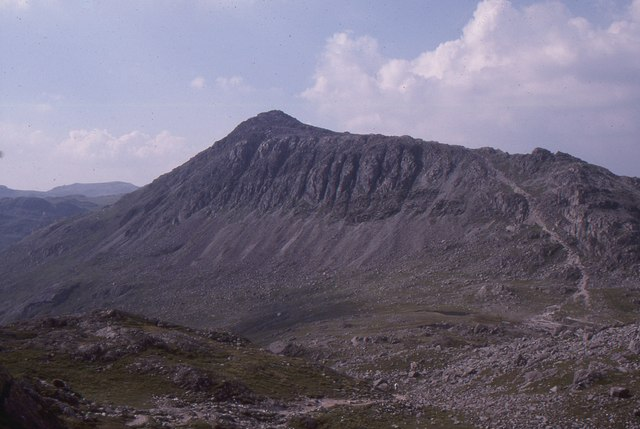 Bow Fell, from Shelter Crags (the northernmost Crinkle)