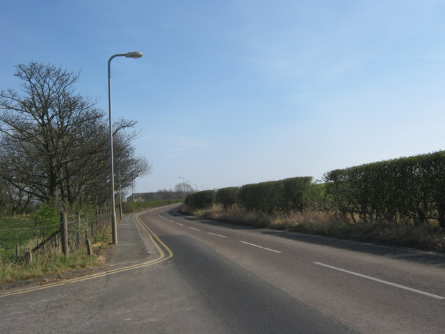Boulmer Road just east of Longhoughton