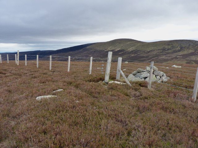 Cairn near the summit of Hill of Cammie
