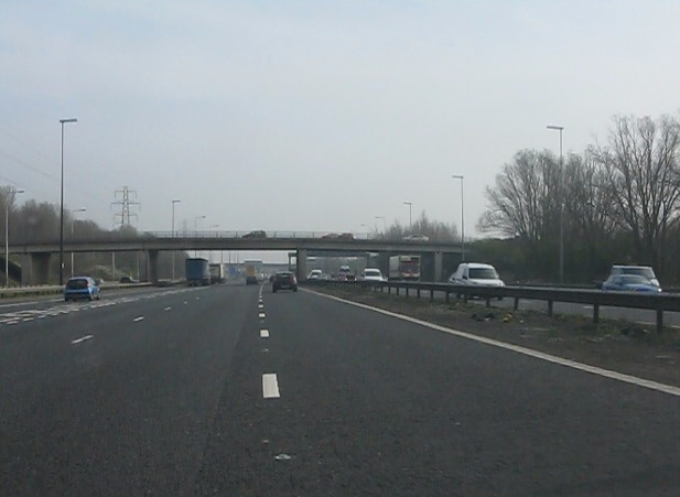 M6 motorway - Locking Stumps Lane bridge