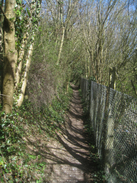 Footpath above the railway