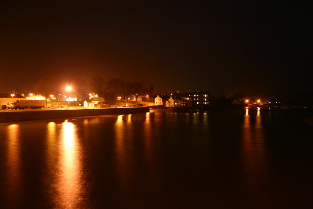 Vacant fishing quay - nighttime