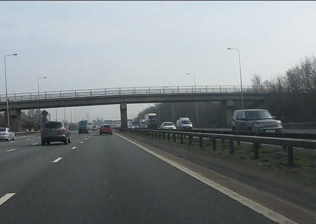 M6 motorway - Moss Avenue bridge