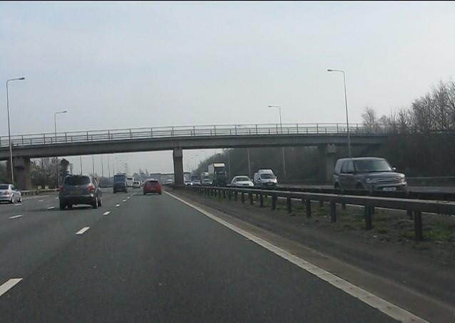 M6 motorway - Moss Avenue bridge