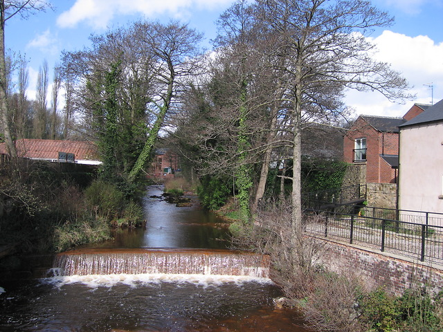 Weir in the River Loxley at Malin Bridge