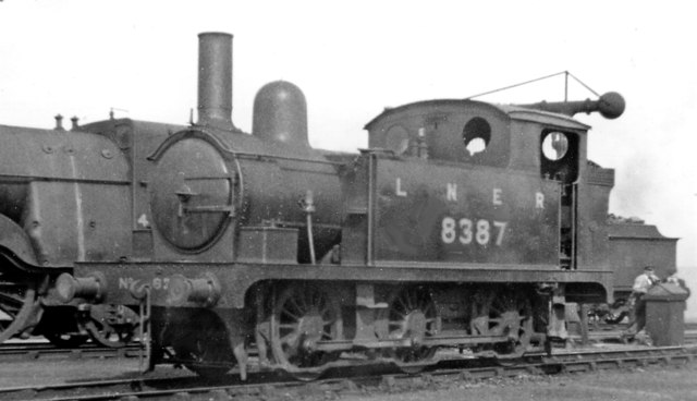 Small ex-GE 0-6-0T at March Locomotive Depot