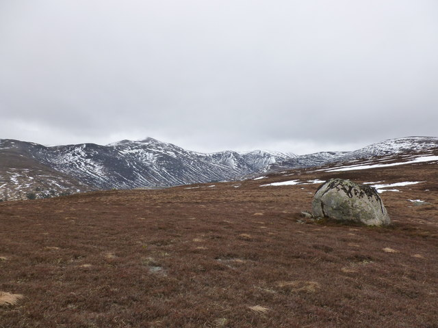 Looking towards Derry Cairngorm from Meall an Lundain