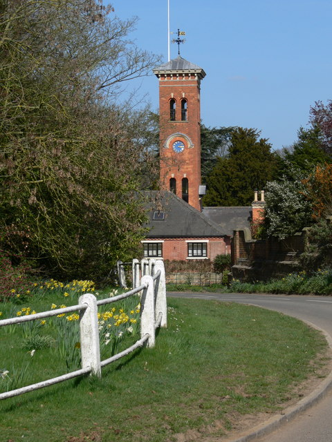 Stable block clock tower at Gumley Hall