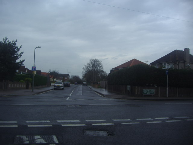 Perry Hall Road at the junction of Goodmead Road