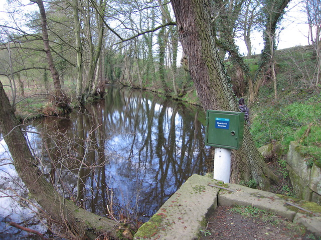 Water level monitor in the river Loxley