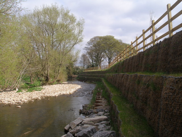 Reinforced banking on the River Skell