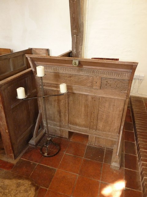 St Peter, Southease: prayer desk