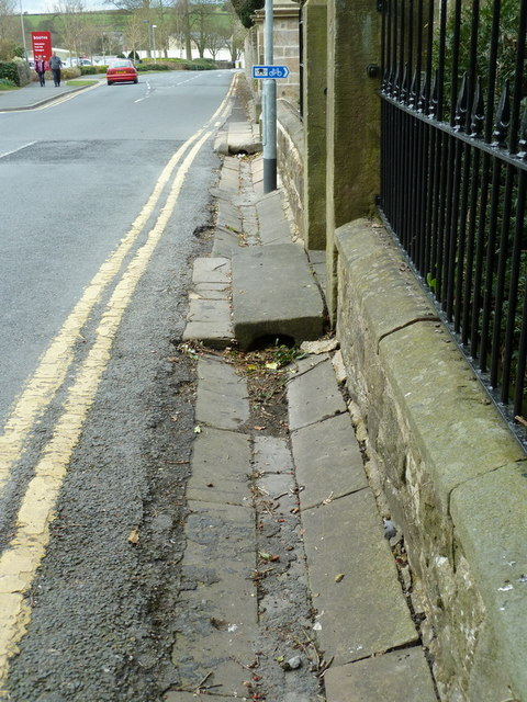 Road side gutter