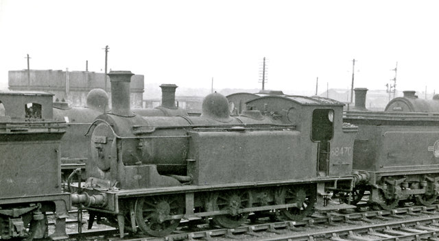 Condemned ex-NBR 0-6-0T in dump at Bathgate Locomotive Depot