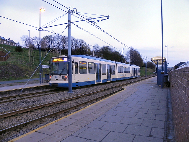 Sheffield Station and Hallam University Tram Stop