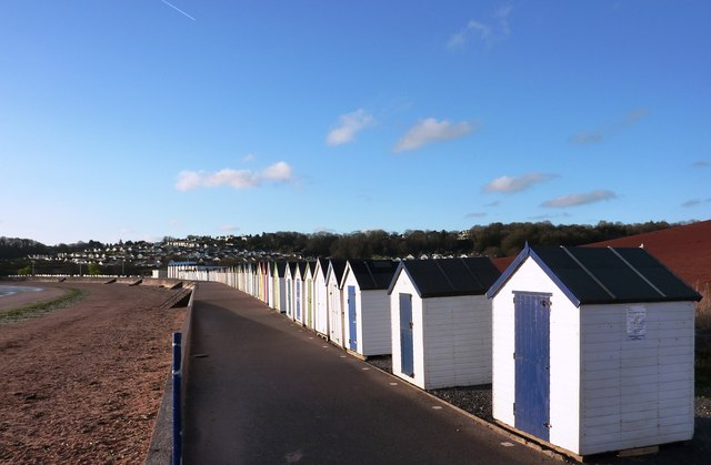 Beach Huts at Broadsands Beach
