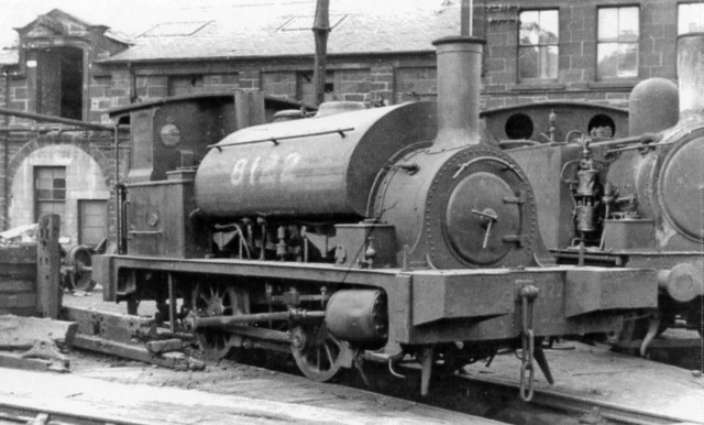 Ex-NBR Y9 Dock 0-4-0T at St Margarets Locomotive Depot