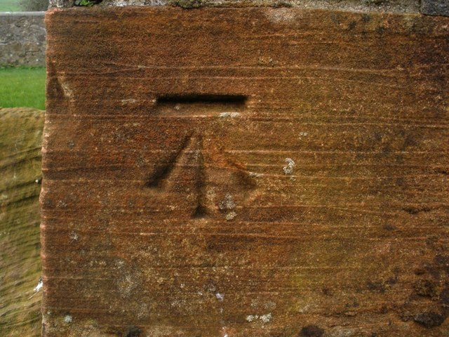 OS Bench Mark, Drumlemble Village Hall