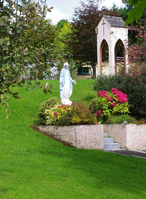 Statue of the Virgin Mary in grounds of St. Molua's Church, Ogonnelloe, Co. Clare