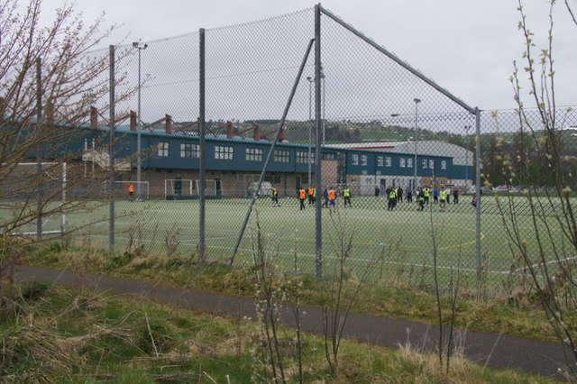 Training ground at Ross County's ground, Dingwall
