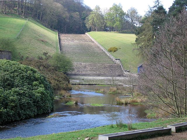 Damflask reservoir spillway