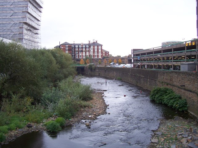River Don from Blonk Street in October 2007