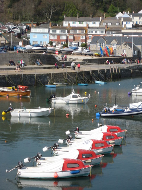 Boats in Lyme Regis Harbour