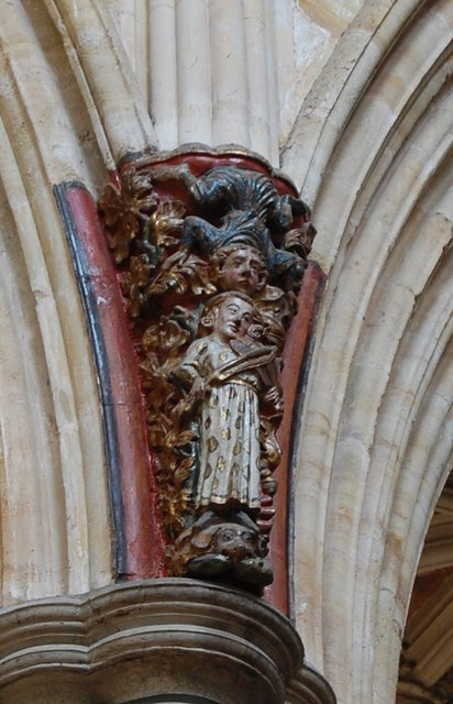 Carved Corbel Exeter Cathedral 169 Julian P Guffogg