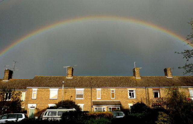 Rainbow over Priory Row, Davington