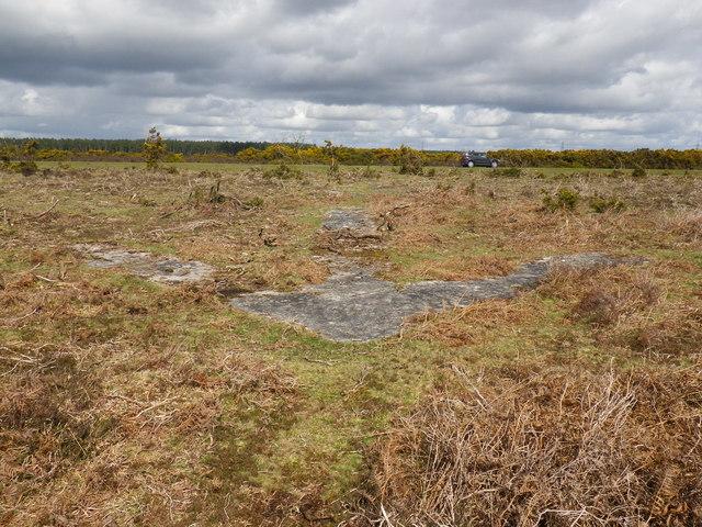 Concrete arrow on Deadmans Hill