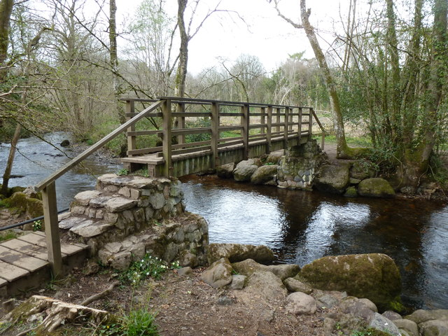 Footbridge over the River Bovey, Parke Estate