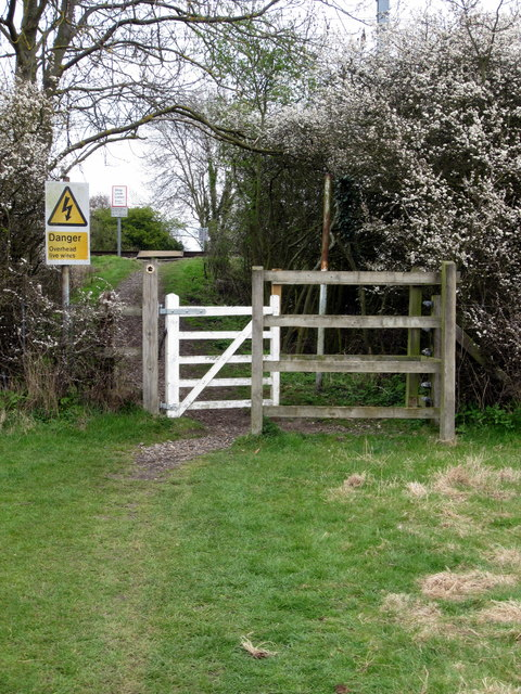 Gate to the path over the railway