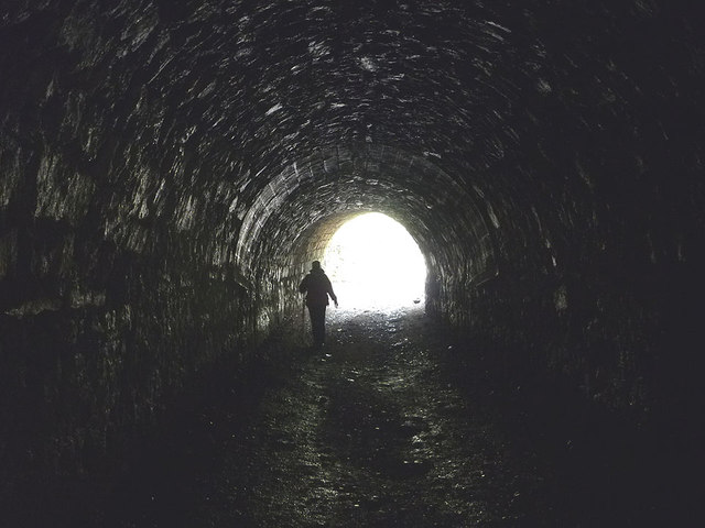 In the tunnels, Thwaite Lane