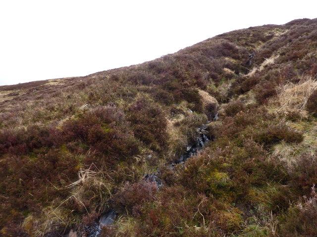 Steepish moorland