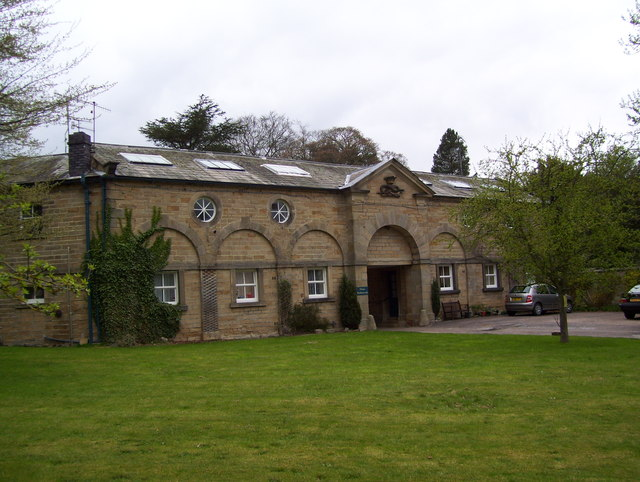 Former stable block at Edensor