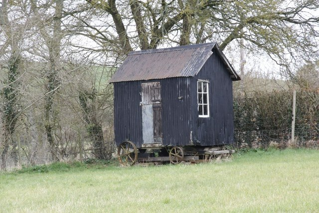 Shed On Wheels : A shed on wheels bill nicholls geograph britain and