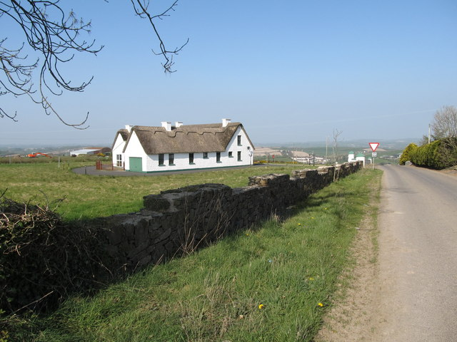 Thatched cottage at the junction of Ballynafern and Sentry Box roads