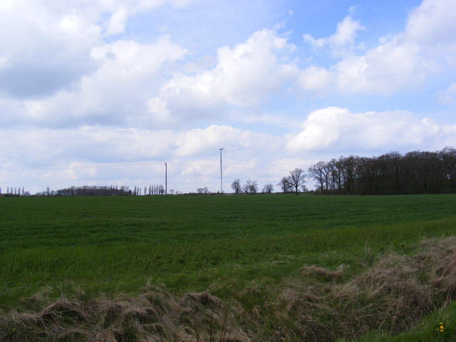 Sibton Green fields & Wind Turbine