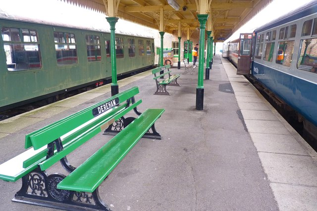 Platform at Dereham Station