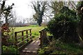 SU2099 : Footbridge over drainage ditch on Seven Stiles Stroll, near Lechlade on Thames by P L Chadwick