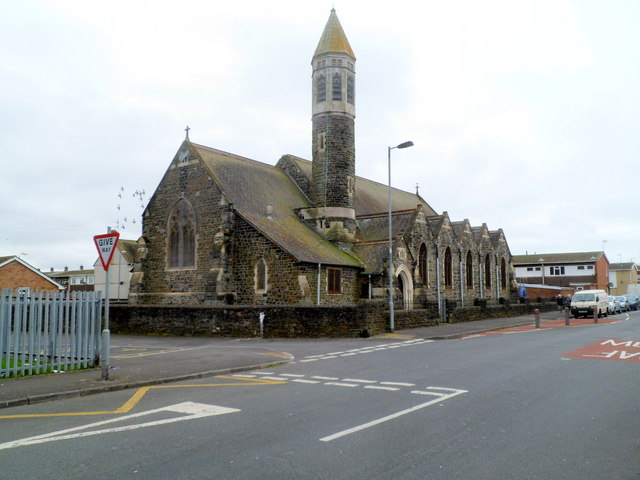 Christ Church, Morfa, Llanelli viewed from the NE